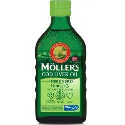 Cod Liver Oil Omega 3 cu aroma de mere verzi x 250mll Moller's