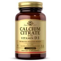 Calcium Citrate 250mg cu D3 x 60 tb. Solgar