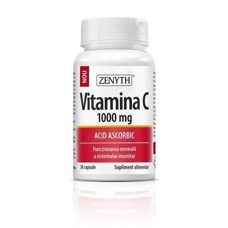 Vitamina C 1000 mg x 30cps Zenyth