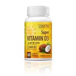 Super Vitamin D3 2000 UI x 60cps Zenyth