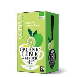 Ceai Verde cu lamaie-ghimbir Eco 20x1,75g Cupper