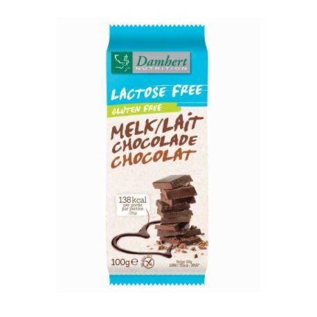 Ciocolata cu lapte si alune fara gluten cu tagatoza x 85g Damhert