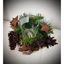 Coronita decorativa cu suport lumanare Christmas Star x 200g Roxan