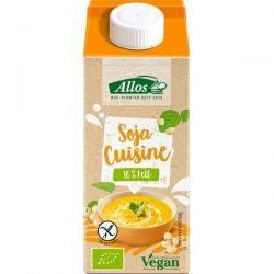 Crema de soia lichida pentru gatit fara gluten x 200ml Allos