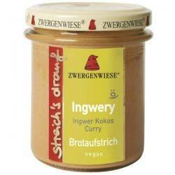 Crema tartinabila vegetala Ingwery cu ghimbir, cocos si curry fara gluten x 160g Zwergenwiese