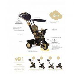 Tricicleta Smart Trike Dream Gold 4in1