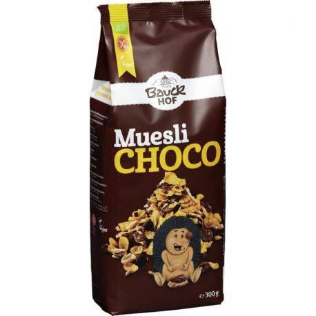 Muesli Crocant cu Ciocolata Neagra BIO Fara Gluten x 300g Bauckhof