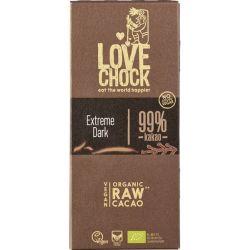 Ciocolata RAW VEGANA extreme dark 99% cacao x 70g Lovechock