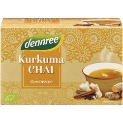 Ceai bio Curcuma Chai x 20 plicuri, 40g Dennree
