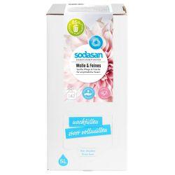 Detergent lichid pentru lana si rufe delicate Bag-in-Box x 5L Sodasan