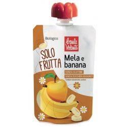 Piure bio de mere si banane fara gluten, fara zahar adaugat x100g Baule Volante