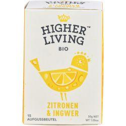 Ceai cu lamaie si ghimbir 15 plicuri bio x30g Higher Living