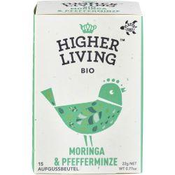 Ceai bio de moringa si menta x 20 plicuri bio, 22g Higher Living