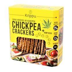 Crackers cu canepa bio, vegan, fara gluten x 80g Krippu