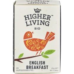 Ceai English Breakfast 20 plicuri bio 45g x Higher Living