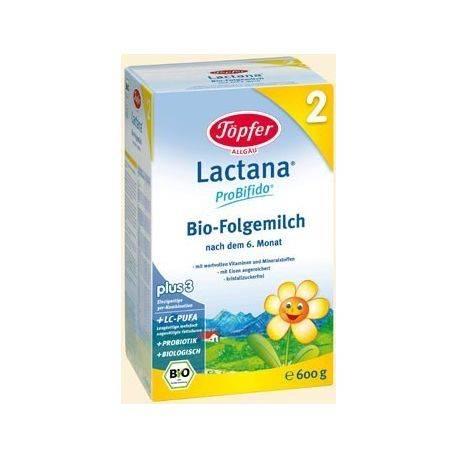 Lapte praf Lactana 2 bio x 600gr Topfer