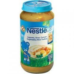 Nestle Piure Legume, orez, curcan x 250g