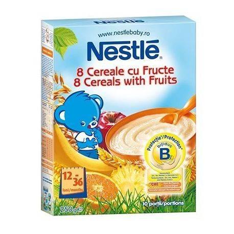 Cereale Nestle 8 cereale cu fructe x 250g