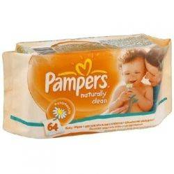 Pampers - Servetele Naturally Clean Single