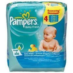 Servetele umede Pampers quattro Baby Fresh x (256 buc)