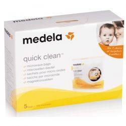 QuickClean - pungi sterilizare la microunde 5 buc  100 sterilizari Medela
