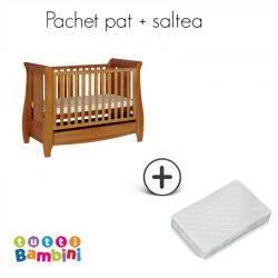 Tutti Bambini Set patut + salteluta pentru bebelusi Lucas Oak