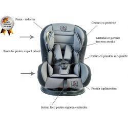 Scaun auto Tojo Grey BabyGo