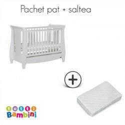 Tutti Bambini Set patut + salteluta pentru bebelusi Lucas White