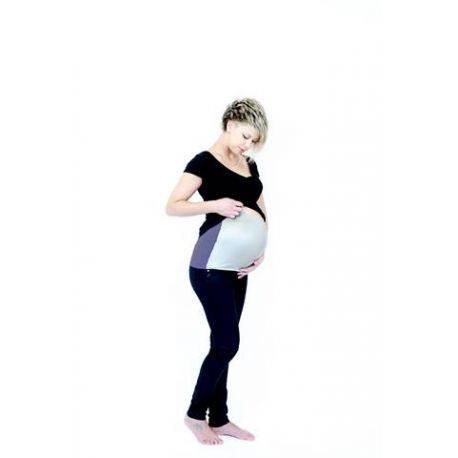 Banda anti radiatii pentru gravide - albastru/argintiu