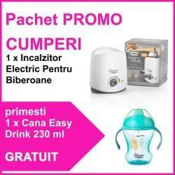 Pachet PROMO  Incalzitor Electric Pentru Biberoane + Cana Easy Drink 230 ml Baieti GRATUIT