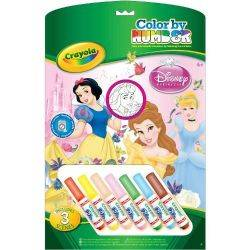 Set Coloreaza dupa Numere Printesele Disney