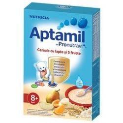 Cereale Aptamil cu lapte si 5 fructe x 225g
