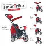 Tricicleta Smart Trike Splash 5 in 1 Red