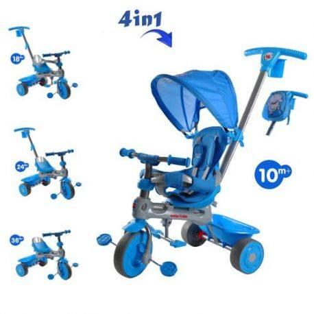 Tricicleta Baby Trike 4 in1 Giraffe Red