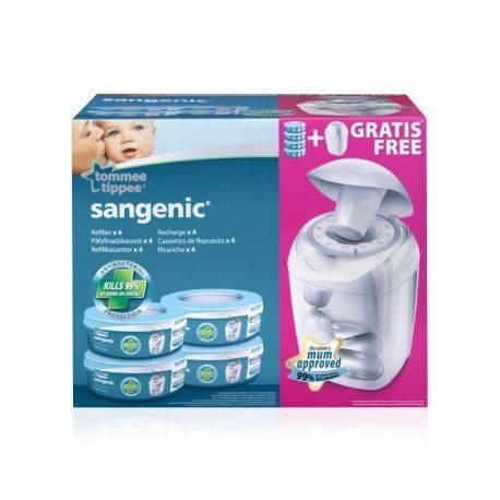 Tommee Tippee - Pachet 4 Rezerve Sangenic + Cos Hygiene Plus Cadou