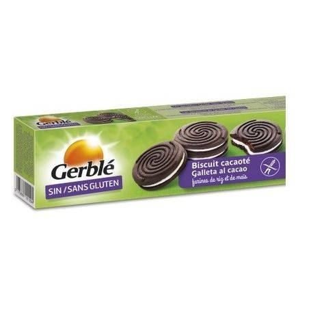 Biscuiti Gerble fara gluten de cacao umpluti cu crema de vanilie x 125g Gerble