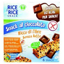 Batoane cu ciocolata - fara gluten 6x21g Rice Rice