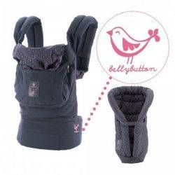 Marsupiu cu Suport Inclus Bellybutton Grey With Pink Polka Dots Ergobaby