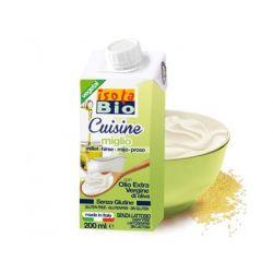 Crema bio din mei pentru gatit fara gluten x 200ml Isola Bio