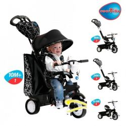 Tricicleta Smart Trike Chic Black White 4 in1