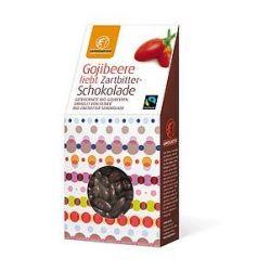 Goji in ciocolatata neagra bio x 90g Landgarten
