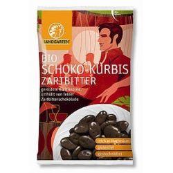 Seminte de dovleac in ciocolata neagra bio x 55g Landgarten