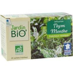 Ceai din plante Cimbru Menta bio (20 plicuri) x 30g JardinBio