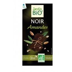 Ciocolata neagra cu migdale bio x 100g JardinBio