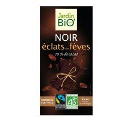 Ciocolata neagra cu boabe cacao bio x 100g JardinBio