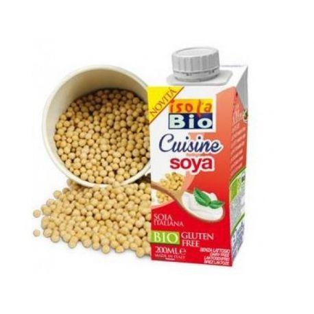 Crema vegetala bio din soia pentru gatit x 200ml (fara gluten, fara lactoza)