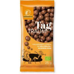 Bilute din porumb-mei expandat in ciocolata cu lapte bio 25g Landgarten