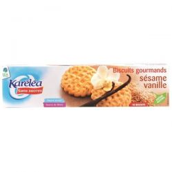 Biscuiti cu susan si vanilie fara zahar x 132g Karelea