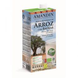 Bautura vegetala de Orez cu Baobab bio x 1L Amandin