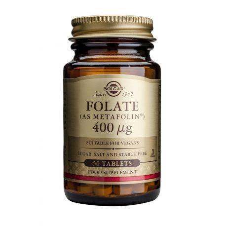 Acidul folic (as Metafolin) x 50 tb. Solgar